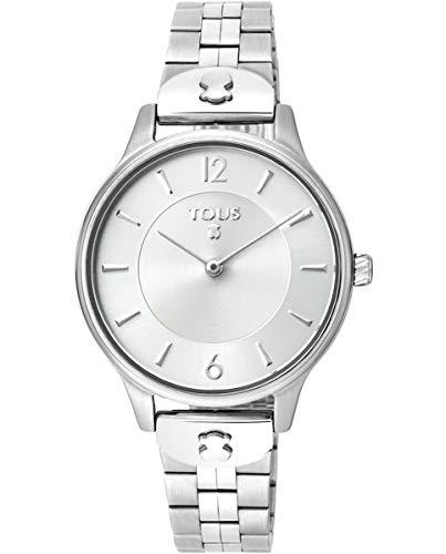 TOUS Reloj Mujer Osier IPRG ESF Silver Brazalete Esterilla- Ref 100350420