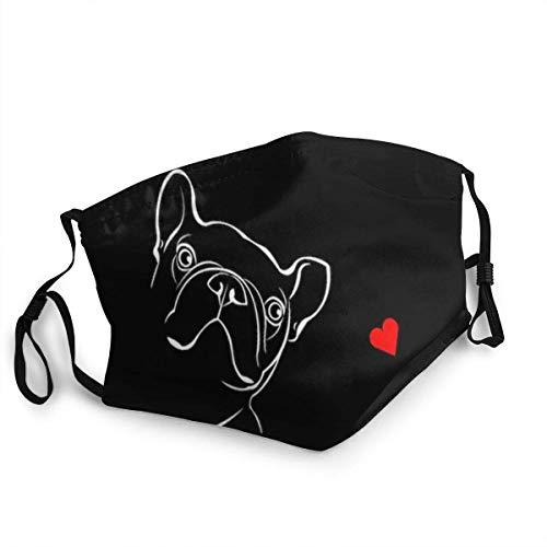 AYGoUP Gesichtsschutz Mundschutz Französische Bulldogge Wiederverwendbarer Nasenschutz Waschbar staubdicht gegen Verschmutzung