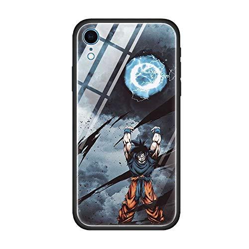 Carcasa de cristal templado para iPhone 11 12 Pro Max Mini 11Pro SE 2020 XS MAX XR X 8 7 6 6S Plus Dragon Ball Z DBZ Coque (9, iPhone 12 Pro)