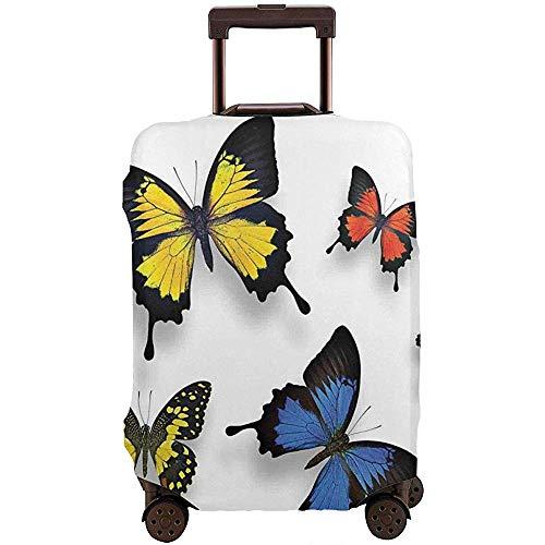 Funda de Equipaje de Viaje Varias Mariposas y polillas Coloridas con la Gracia de la Naturaleza Alas Protector de Maleta Talla L