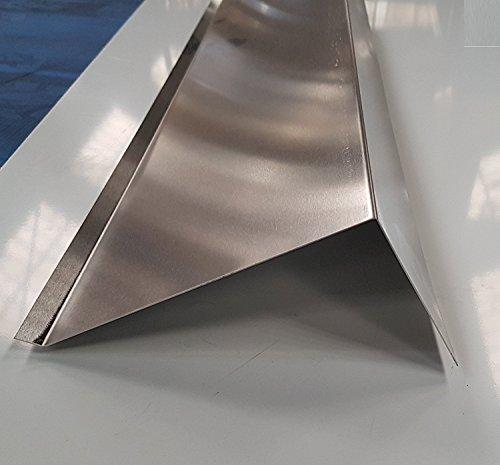 200 cm OrtgangblechZuschnitt 300mm Aluminium Natur 0,8mm Kantblech Dachblech Winkelblech Dachprofil Ortgang 2000mm