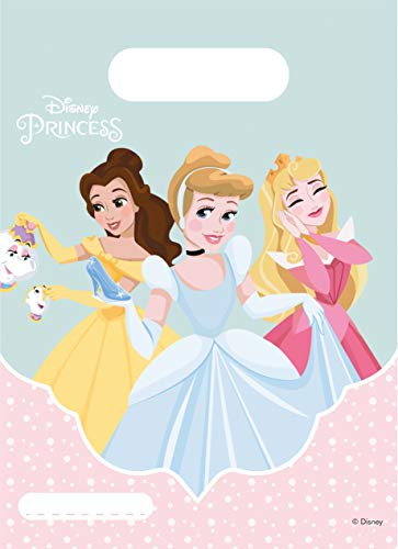 Procos 89223 - Partytüten Princess Dare to Dream, 6 Stück, Mitgebsel, Kindergeburtstag