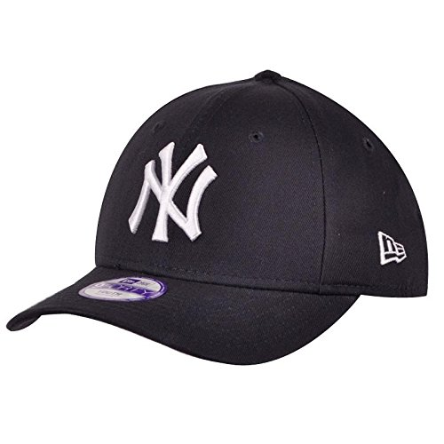 New Era 9FORTY - Gorra unisex para niños, color negro / blanco, talla Joven ( Youth)
