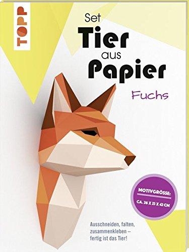 Tier aus Papier (Bastel-Set) - Fuchs: Ausschneiden, falten, zusammenkleben - fertig ist das Tier!