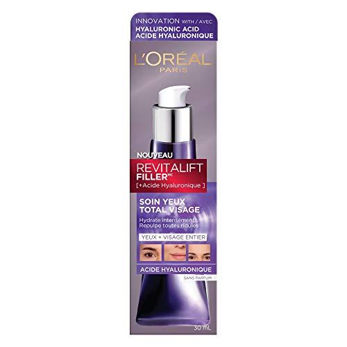 L'Oréal Paris - Revitalift Filler - Soin Anti-Âge Contour des Yeux Total Visage - À l'Acide Hyaluronique - 30 ml