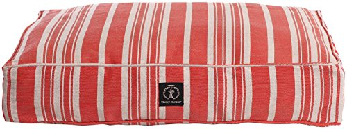 Harry Barker Classic Stripe Dog Bed - Red - Large