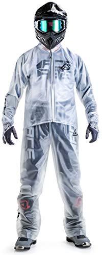 ACERBIS Pantalone Rain Trasparente 3.0 Traspar Pants, Transparente, S-M Unisex Adulto