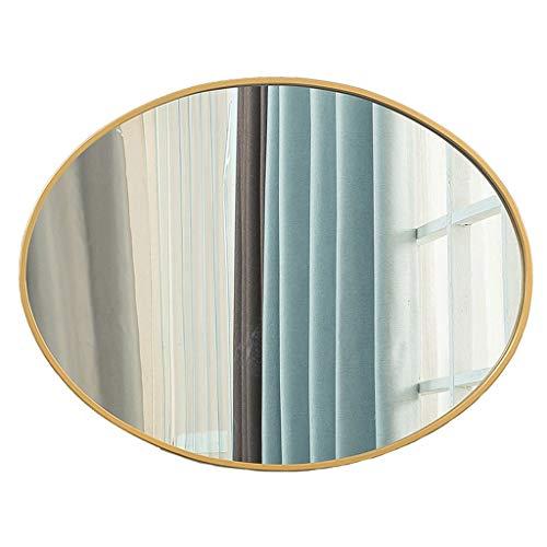 LJP ronde spiegel zwart 80 cm Scandinavisch modern eenvoudig design messing metaal hangende anti-condens voor de badkamer zwart goud
