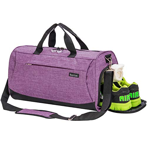 Kuston Sports Gym Bag with Shoes Compartment Travel Duffel Bag for Men and Women