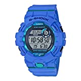 Casio G-SHOCK Reloj Digital, Contador de pasos, Sensor de movimiento, Aplicación de deporte gratuita para descargar, 20 BAR, Azul, para Hombre, GBD-800-2ER