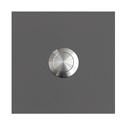 MOCAVI RING 110 Edelstahl-Design-Klingel grau-aluminium matt RAL 9007 quadratisch, Klingeltaster