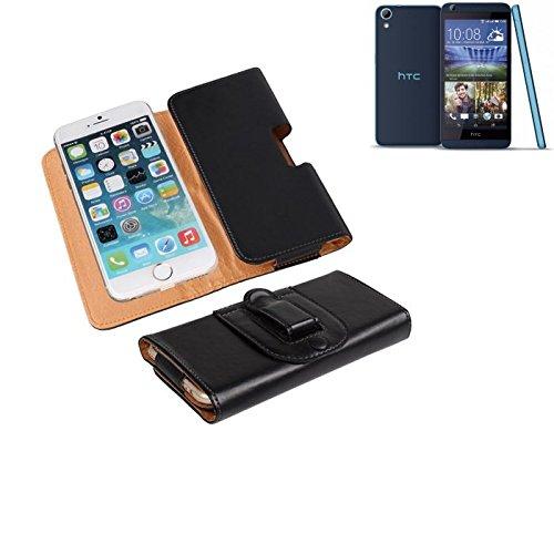 Für HTC Desire 626G Dual SIM Gürteltasche Holster Gürtel Tasche Schutzhülle Handy Tasche Schutz Hülle Smartphone Case Handytasche Seitentasche Quertasche Belt Bag Etui Schwarz Für HTC Desire
