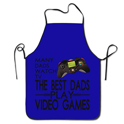 SPHGdiy Many Dads Watch TV The Best Dads Play Video Games Cute Chef Kitchen Restaurant Bib Apron