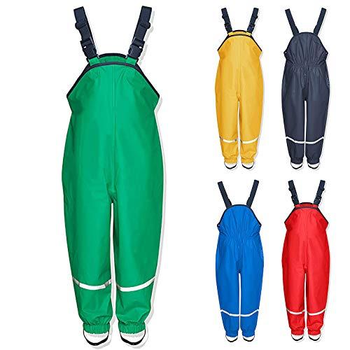 Pantaloni Impermeabili Salopette antipioggia, unisex, per bambini