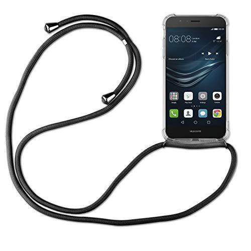 betterfon | Huawei P9 Lite Handykette Smartphone Halskette Hülle mit Band - Schnur mit Case zum umhängen Handyhülle mit Kordel zum Umhängen für Huawei P9 Lite Schwarz