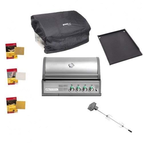 Crossray Gasgrill Heatstrip Einbau Grillpaket 12,4 kW Infrarto-Grill Gas Grill Gartenkamin
