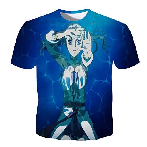 ZOSUO Black Clover 3D Impresin Anime T-Shirt Cosplay Disfraz Manga Corta Camiseta Cuello Redondo Casual Cmodo Respirable Blusas Sudaderas Unisex,M
