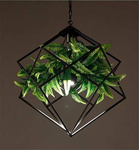 Iluminación colgante minimalista moderna Retro moderno araña industrial / iluminación para interiores Lámparas de araña de lámparas de araña verde Bar plantas de hierro Chandelier Comedor Araña Ilumin