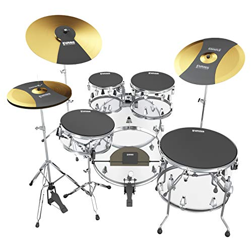 Evans Practice Pad, Rock Box Set w/Cymbal & Bass (SOSETROCK)