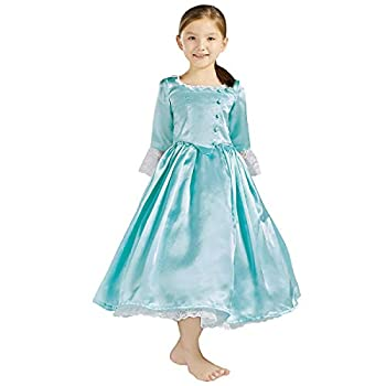 Royal Colonial Little Girl Child Princess Costume Hamilton Elizabeth Schuyler Dance Cosplay Kid Victorian Dress