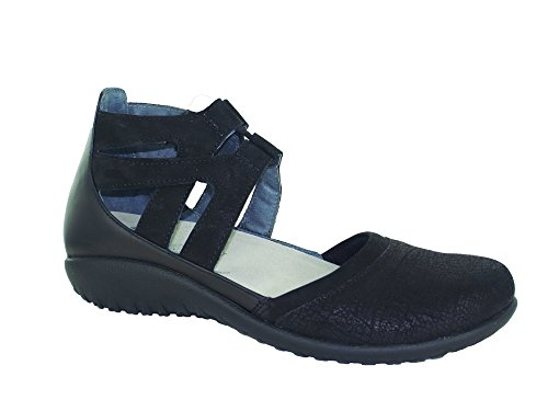 NAOT Women's Lace-up Kata Shoe Black Lthr Combo 11 M US