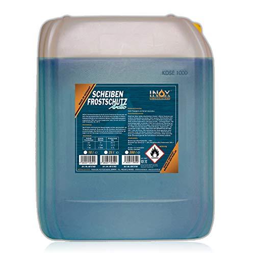 INOX® Arctic Scheibenfrostschutz Konzentrat, 10L - Auto Frostschutzmittel Scheibenwaschanlage für Scheibenwischwasser bis -35°C