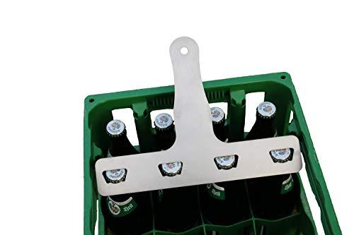 Deggelbam 4er Flaschenöffner für 0,5L // Männergeschenk // Flaschenöffner für echte Männer // Bier