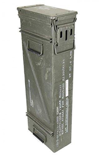 A.Blöchl Große & Schmale Originale gebrauchte Munitionskiste der U.S. Army Metallkiste Mun-Kiste Behälter Metallbox