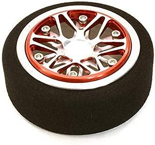 Integy RC Model Hop-ups C26898REDSILVER Billet Aluminum T4 Steering Wheel for Futaba 3PV 4PL S 4PV 4PX 4PX R 7PX Radios