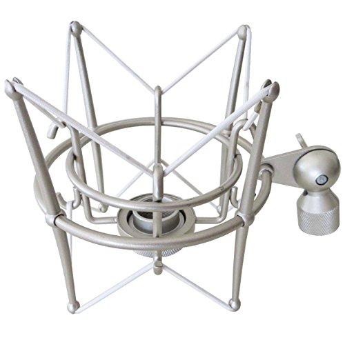 keepdrum MS089SV Silber Mikrofon-Spinne elastische Halterung Shockmount für G-Track AT2020 / USB+