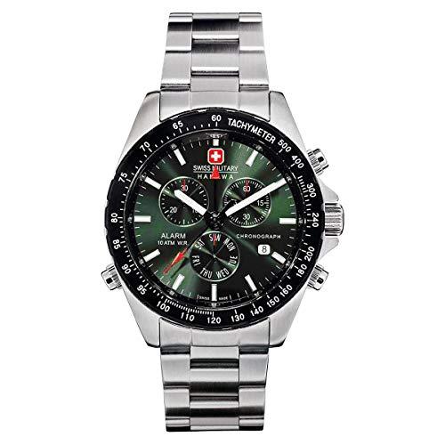 Suiza alarma Militar hanowa Navigator cronógrafo 06-5007 04.006.