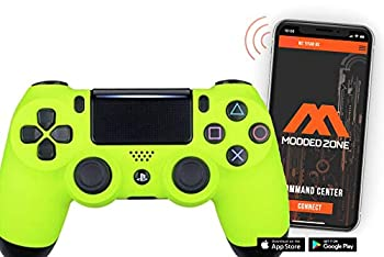 Soft Neon Yellow PS4 PRO Smart Rapid Fire Modded Controller Mods for FPS All Major Shooter Games Warzone & More  CUH-ZCT2U