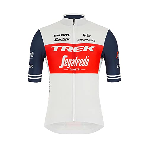 Santini Trek-segafredo Team Replica Race Maglia Ciclismo, Rosso/Bianco/Blu, M Uomo