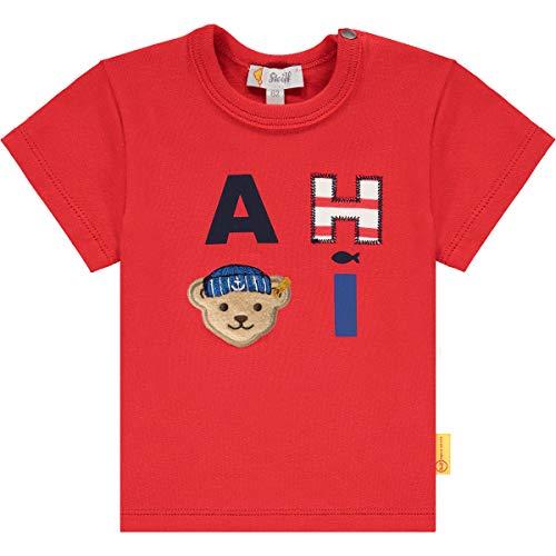 Steiff Baby-Jungen T-Shirt, True RED, 080