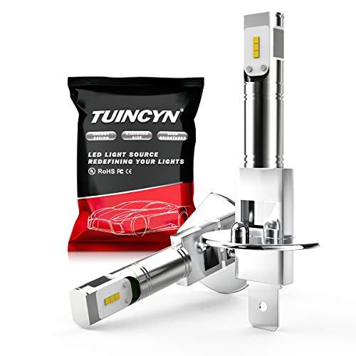 TUINCYN H1 LED antibrouillard 1600Lm 80W Extrêmement Lumineux CSP Chips Ampoules de Rechange Blanc 6500K fo DRL Lampe lumière du Jour LED Ampoules (Pack de 2)