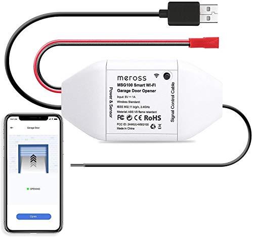 Wifi Apriporta Garage Door Opener Apricancello Smart Intelligente, Compatibile con HomeKit, SmartThings, Amazon Alexa, Google Assistant, APP Controllo Remoto, Nessun Hub Richiesto