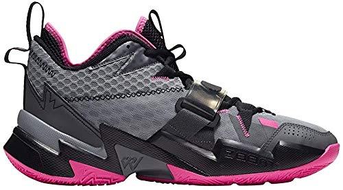 Nike Męskie buty do koszykówki Jordan Why Not Zer0.3, szary - Particle Grey Pink Blast Black Iron Grey - 44 EU