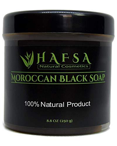 Moroccan Black Soap with Eucalyptus - Beldi Soap - 100% Natural Vegan Skin Exfoliating Hydrating Moisturizing Cleanser Nourishing, Body Scrub, Body Wash, SLS-free, Paraben-free.