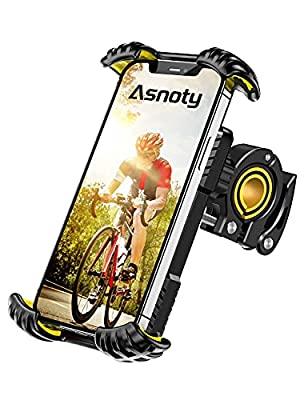 """Asnoty Bike Phone Mount Holder, 360° Rotatable Adjustable Anti-Shake Bicycle Motorcycle Phone Mount, Motorcycle Handlebar Phone Clamp Compatible with 4.7""""-7.0"""" Smartphones by Asnoty"""
