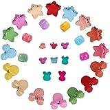 Mini Haarspangen,100 Stück Baby Kleine Haarnadel Kleine Blumenklammer Kinderfarbe Haarnadel Haarschmuck (Zufällige Farbe und Stil)