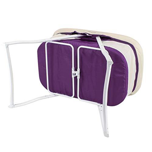 3-in-1 Baby Babybett Beistellbett Reisebett inkl. Moskitohaube, Matratze und Tasche – alle Farben (Violett) - 6