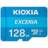 Kioxia 128GB microSD Exceria フラッシュメモリーカード アダプター付き U1 R100 C10 フルHD 高読み取り速度 100MB/s LMEX1L128GG2