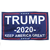 Ashley ZC Donald Trump for President 2020 Polyester Flags 3x5 Ft, Keep America Great Flag with Brass Grommets - Bright Color and UV Protection