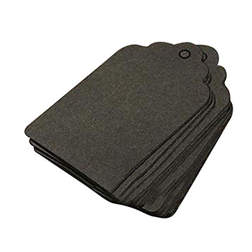 2019 Beste Verkoop 100 stks 7x4cm Kraft Papier Gift Tags Kaart Bruiloft Sjaal Label Bruin Blank Bagage Nieuwe Aankomsten Groothandel Zwart