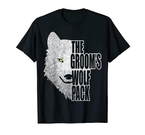 Camiseta de despedida de soltero The Groom's Wolf Pack! Camiseta