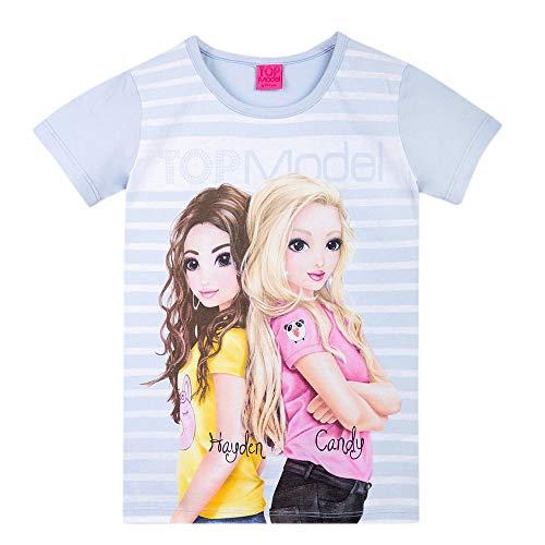 Top Model Mädchen T-Shirt, blau, Größe 140, 10 Jahre