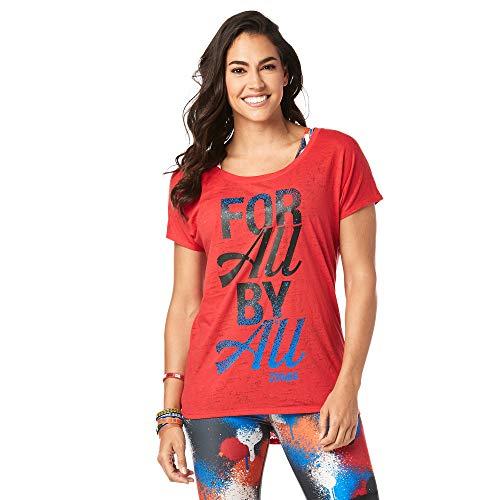 Zumba Fitness Damen Z1t01309 Hemd, Viva La Red, M