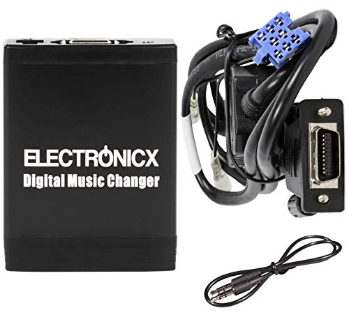 Electronicx Elec-M06-REN8 Adaptador de Musica Digital para Coche USB SD AUX Cambiador de CD Audio Radio mp3 Renault 8Pin