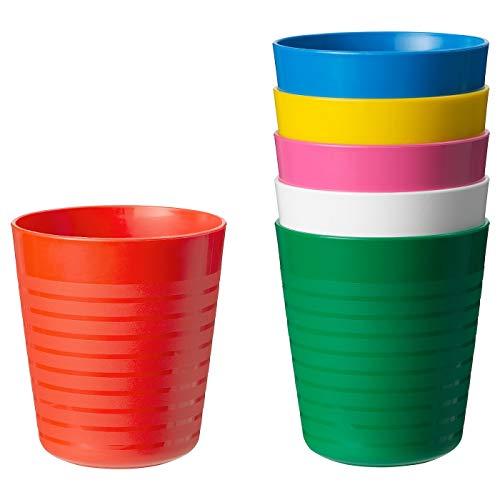 Ikea Kalas 101.929.56 BPA-Free Tumbler, Assorted Colors, 6-Pack, Set of 2 by Ikea