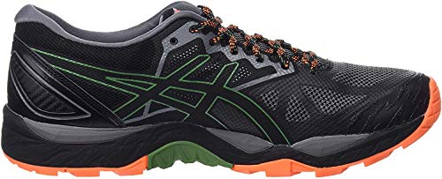 ASICS Mens Traillaufschuh Gel-Fujitrabuco 6 G-TX Running Shoes, Grau Carbon Black 020, 44 EU